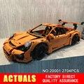Nova LEPIN 20001 série technic 911 GT3 RS Corrida Modelo de Carro Kits de Construção Blocos Tijolos Compatível 42056 Meninos Presente