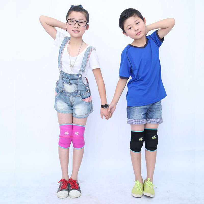 Kids Thickening Sports Knee Pads Brace Support Protect Knee Protector Baby Crawling Dance Volleyball Children joelheira