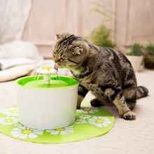 Pet Cat Automatic Water Flower Waterfall Dispenser Electric Cats Dog Bowl Drinking Water Feeder EU/US Plug Mat Filtration Pad(China)