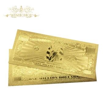 10 unids/lote billetes de oro de EE. UU. Billetes de 1 millón de dólares en papel de oro de 24K para colección y regalo de negocios