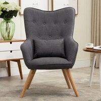 Mid Century современный стиль кресло диван ножки стула деревянный льняной обивки мебель для гостиной Bedoorm Arm Стул Кресло акцент