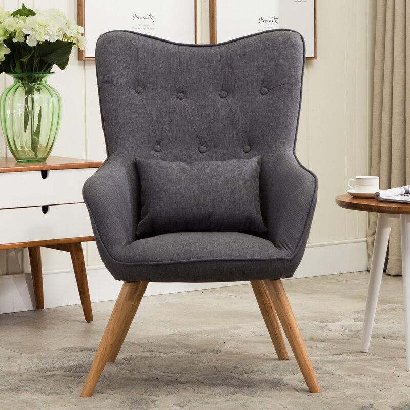 Gut AuBergewohnlich Mid Century Moderne Stil Sessel Sofa Stuhl Beine Holz  Leinen Polster Wohnzimmer Möbel Bedoorm Arm