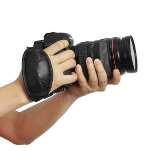 Image 3 - Yeni kamera PU deri kavrama hızlı bilek kayışı yumuşak el kavrama kamera çantası evrensel Canon Nikon Sony için olympus siyah
