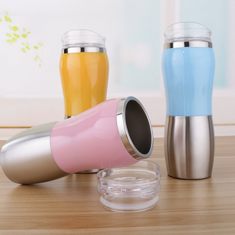 500ml Vacuum Flask Stainless Steel Water Bottle Cup Doublelayer Insulated Thermo