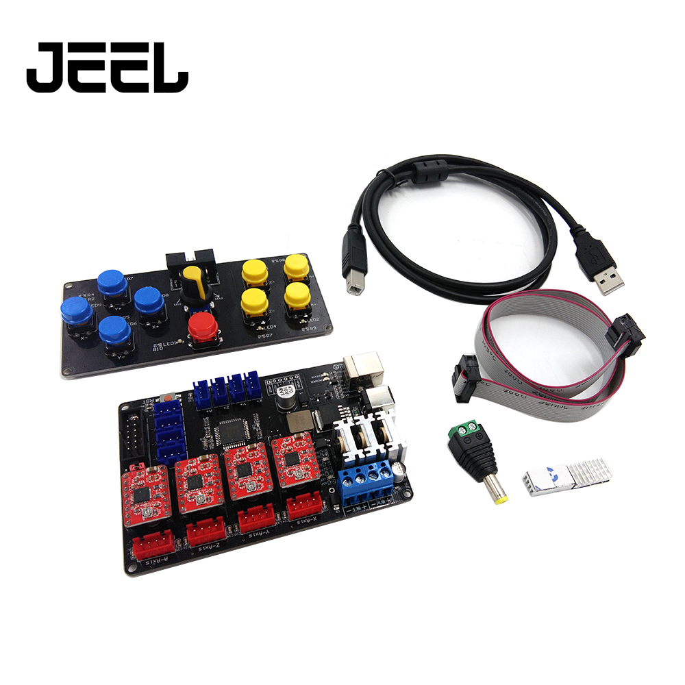 CNC USB Controller 4 Axis Engraver Machine Control Panel Laser Engraving Machine Accessory Motherboard