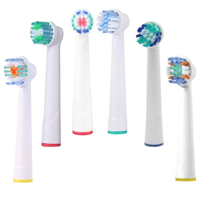 Paket 4 Listrik Pengganti Sikat Gigi Kepala Kebersihan Mulut B Vitalitas  Sensitif 3D Pro Kesehatan Profesional 811dbef2ee