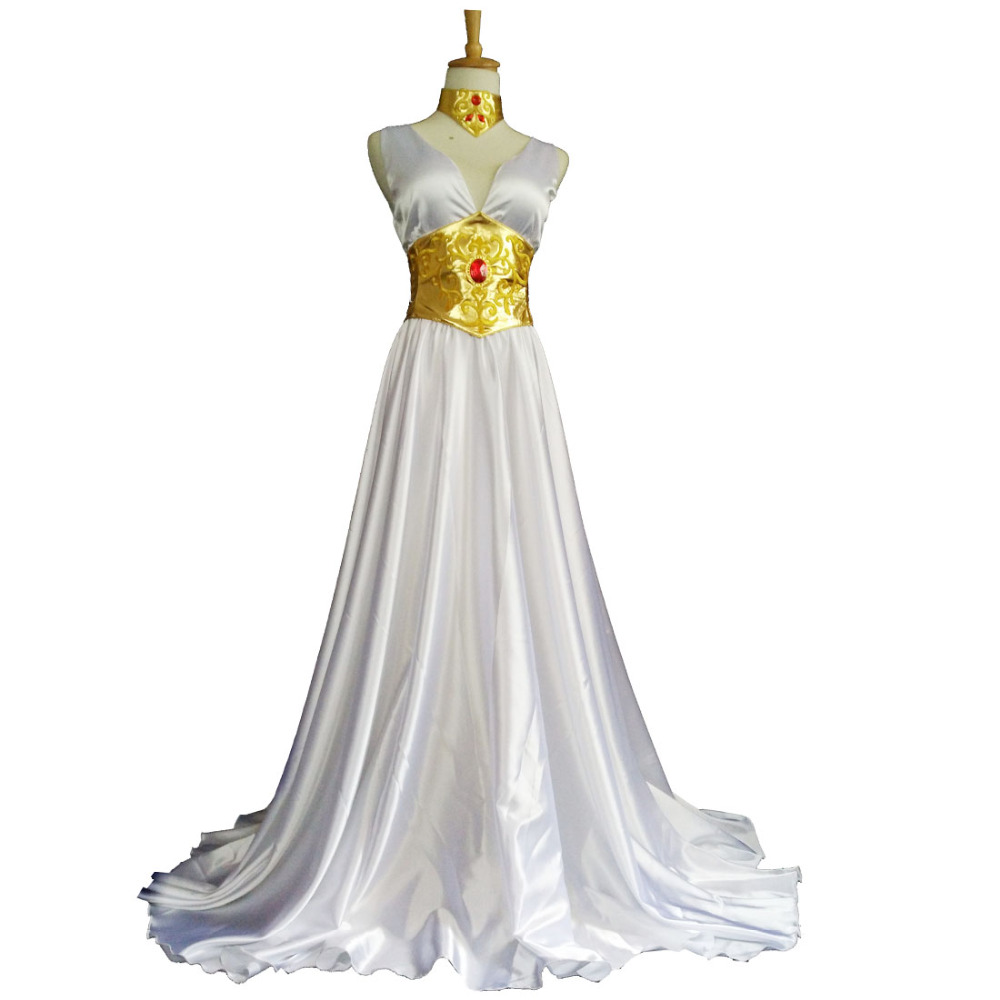 2016 Saint Seiya Legend of Sanctuary Cosplay Costume Athena Cosplay Dress saint seiya legend of sanctuary saga cosplay costume