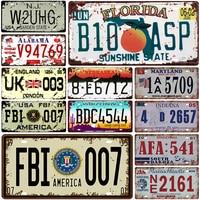 米国 3 ナンバー車メタルナンバープレートプラーク金属ヴィンテージ錫メタル看板ヴィンテージバー装飾メタルポスターパブバーオフィスピンアップ