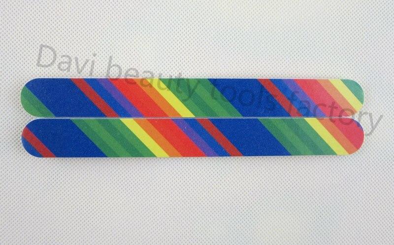 50 шт./лот Радуга шаблон наждачной бумагой, пилочка для ногтей домашнего использования ногтей инструменты пилочку