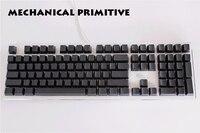 108 87 Keys Thicken PBT Black Blank Keycap High Wear Resistance OEM Profile Keycaps For Cherry