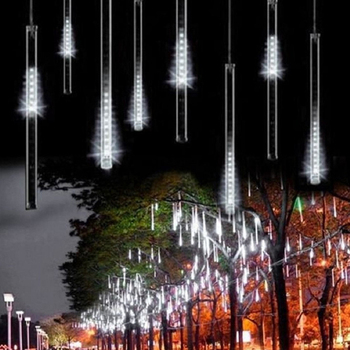 30CM 50CM 110V-230V Meteor Shower Rain Tube Guirlande Led Outdoor Garland Fairy Christmas Tree Festoon Lights Wedding Decoration 1