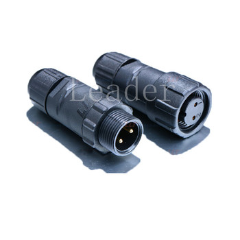 UL Standard M14 -2 Pin 250V 15A outdoor cable waterproof connector