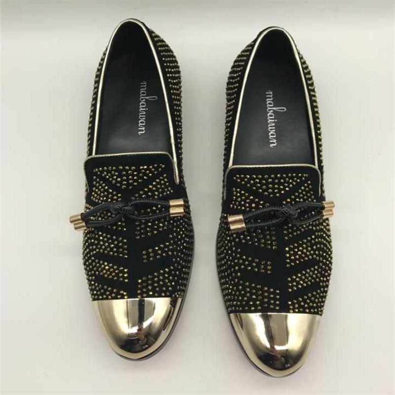 Flats Mens Shoes Dos De Mans Toe Homens Vestido Pionted Mocassins Calçado Casuais Mabaiwan Strass Calçados Deslizamento Alpercatas Black Tenis Festa nx0fwPt6tq
