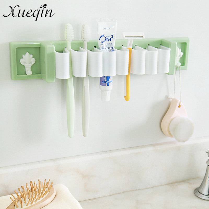 Wall Strong Suction cup Absorption ABS Toothbrush Holders hanger rack for bath