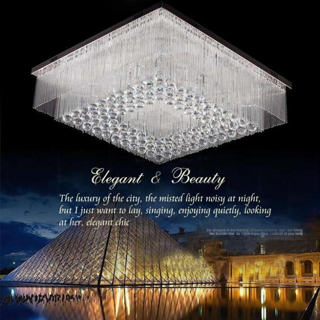 US $582.75 |Hotel projekt lampe design herstellung und installation von  hochwertigen kristall wohnzimmer lampen decke dekoration in Hotel projekt  ...