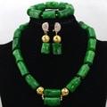 2017 Мода Африканские Коралловые Бусы Колье Зеленый Коралл Костюм Невесты Комплект Ювелирных Изделий Подарков Бесплатная Доставка CNR442