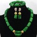 2017 de La Moda Africana Coral Perlas Del Collar De Regalo de La Joyería de Traje de dama de Honor de Coral Verde Envío Gratis CNR442