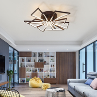 Ceiling Lights Led Lamp Ceiling Lustre Remote Control Dimming Lighting Fixture Living Room Bedroom Dining Room Brown/White