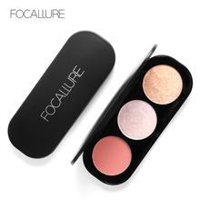 все цены на Focallure Face Blusher Powder Palette Highlighter Makeup Blush Palette makeup blush shimmer highlighter face contour blusher