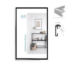 Классический минималистский алюминия 8,5×11 «20×30 см A4 A3 Плакат рамка для настенный металлический фоторамка рамка сертификат