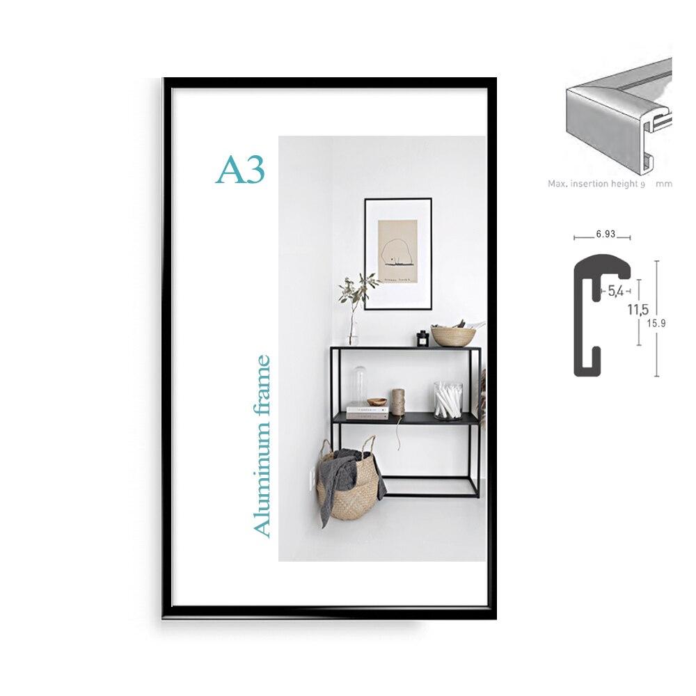 Klassische minimalistischen aluminium A4 A3 poster rahmen für wand ...