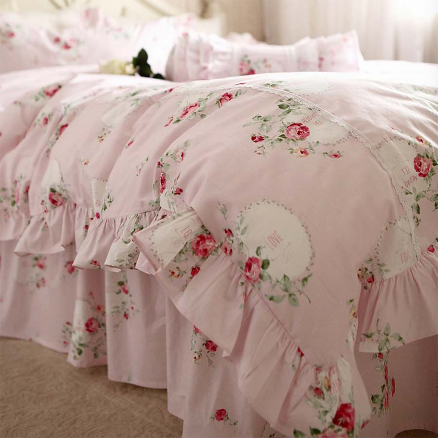 compare prices on princess twin bedding online shoppingbuy low  - princess pink floral bedding sets adult girltwin full king queen hometextiles