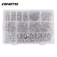 475pcs M4 M5 M6 Stainless Steel Metric Bolts Socket Nuts Screws Flat Washers