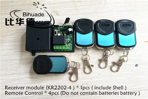 433Mhz Universal Wireless Remote Control Switch DC12V 10A 1CH relay Receiver Module and 4pcs Transmitter 433 Mhz Remote Controls qiachip 4pcs rf transmitter 433 mhz remote controls 433mhz wireless remote control switch dc 12v 1ch rf relay receiver module