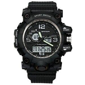 Image 3 - SANDA Men Military Sports Watches Male LED Digital Watch Waterproof Watch Men Luminous Chronograph Relogio Masculino