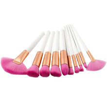 10Pcs Makeup Brushes Set Powder Foundation Eyeshadow Brush Wooden Handle Soft Hair Beauty Cosmetic Brushes For Makeup Tools lovely 10pcs soft purple hair makeup brushes set purple handle cosmetic foundation eyeshadow blusher powder brush beauty tools