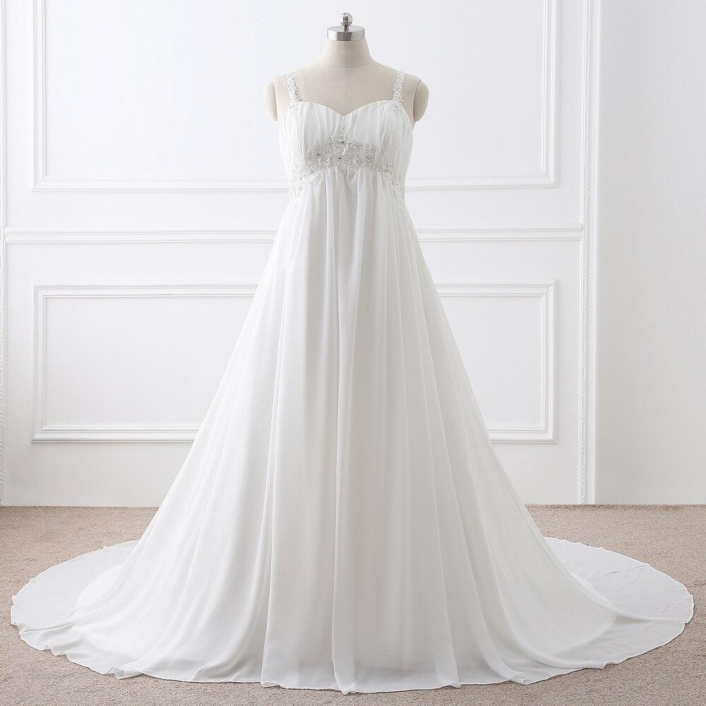 Plus Size Bridal Gowns: Real Picture Chiffon Plus Size Wedding Dresses 2017 Court