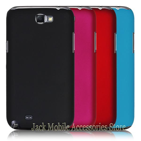 Kualitas baru Tinggi Multi Warna Mewah Karet Matte Keras Telepon Kasus  Cover Untuk Samsung Note2 N7102 N7100 Gratis Pengiriman 2fbf589e02