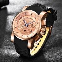 PAGANI DESIGN Top Luxury Brand Men quartz watch china Dragon Calendar Silicone Strap Multifunction Chronograph Waterproof Watch