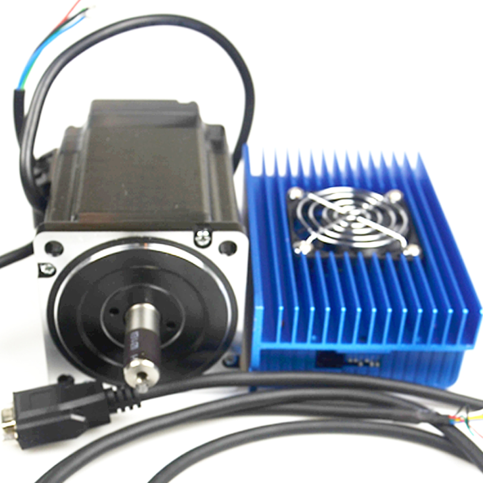 2 Phase Closed Loop Stepper System 86mm 8.5Nm 8A Stepper Motor Drive Kit 2HSS86H+86J18118EC-1000 Stepping Motor 2 phase 8 5n m closed loop stepper servo motor driver kit 86j18118ec 1000 2hss86h cnc machine motor driver