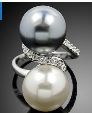 TR14 100% реальные пресноводного жемчуга и 100% Серебро 925 Кольцо Круглый Форма Бесплатная доставка