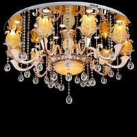 Modern LED Ceiling Lights To Absorb Dome Light Stainless Steel Zinc Alloy K9 Bedroom Crystal Lamp