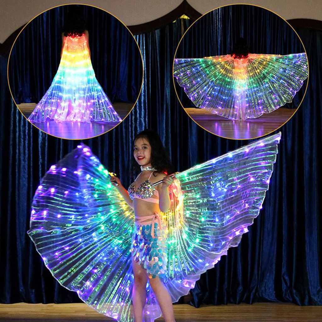 Belly Dance Costume Butterfly Isis Wings for Adults Children with 2 Sticks