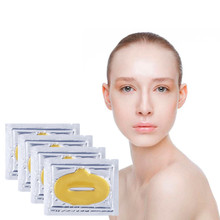 Love Thanks 1 bag 24K Golden Collagen Nourishing Lip mask Deep Moisturizing Lip Patches High Quality(China)