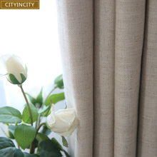 CITYINCITY Jacquard Dark Fringe Darpes Modern Faux linen  Curtains For Bedroom And Livingroom Window  Rideaux Customized