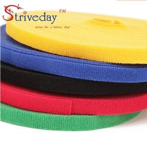 Image 4 - 25 メートル/ロールマジックテープナイロンケーブルタイ幅 1 センチメートルケーブルワイヤーネクタイイヤホンワインダー velcroe ネクタイ 6 色から選択