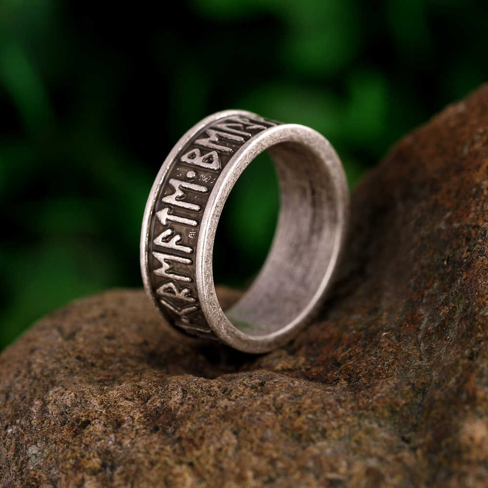 1pc Viking Man's Rings Custom Rune Letter Signet Ring Wedding Anel Nordic Vintage Bague Men Jewelry