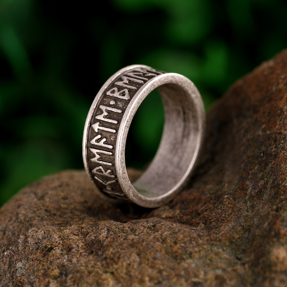 1pc viking mans rings custom rune letter signet ring wedding anel nordic vintage bague men jewelry - Viking Wedding Rings