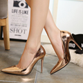 Four season women pumps high heels nude pumps fashion pointed toe women shoes thin heels Plus size