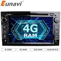 Eunavi Octa Core Android 8.0 Quad Core 1024*600 Car DVD Player Per Opel Astra Vectra Zafira Antara Corsa di Navigazione GPS Radio