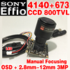 1 3 Sony CCD Effio 4140dsp 811 Real 800tvl Analog Hd Mini Chip Monitor Module 2