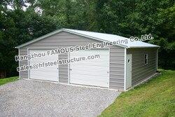 Сборная стальная конструкция гаража для парковки автомобилей