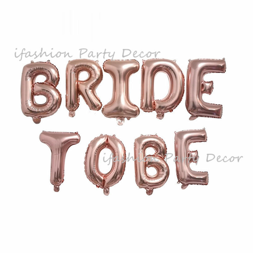 1set Team Bride To Be Banner Rose Gold Confetti Balloon Wedding Decor Bridal Shower Garland Bachelorette Party Hen Party Supply in Party DIY Decorations from Home Garden