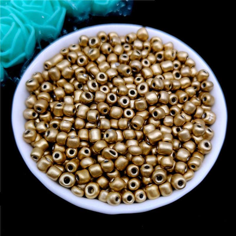 Cuentas checas de cristal de 2mm, 3mm, 4mm, cuentas de semilla de cristal para la fabricación de joyas, pendientes, abalorios para pulsera o collar hechos a mano DIY