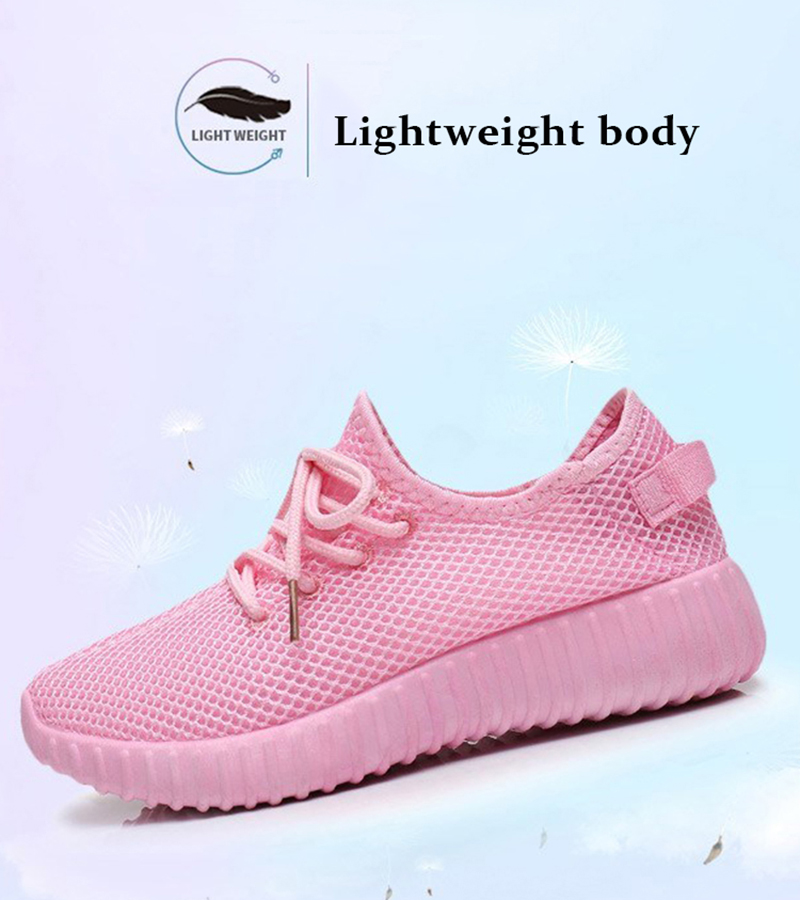Mesh casual shoes women Breathable Lace Up white sneakers female soft lightweight summer flat Women Vulcanize Shoes 2019 VT243 (3)