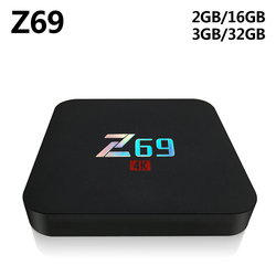 Z69 Android 7.1 TV Box Amlogic S905X Quard Core 3GB RAM 32GB ROM 2.4GHz Wifi Bluetooth Smart Set Top Box 4K HD Media Player